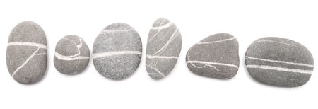 sea stones isolated on white background 写真素材
