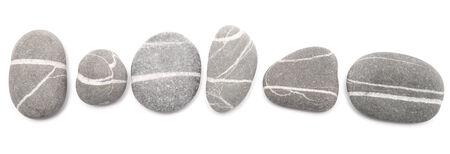sea stones isolated on white background Stock Photo