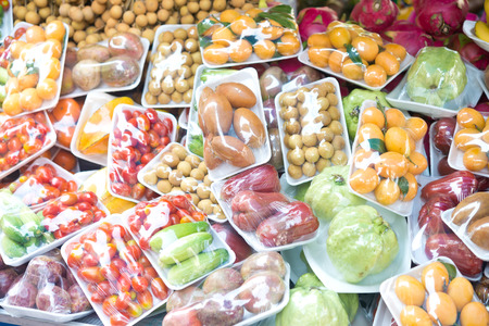 groenten en fruit in de verpakking