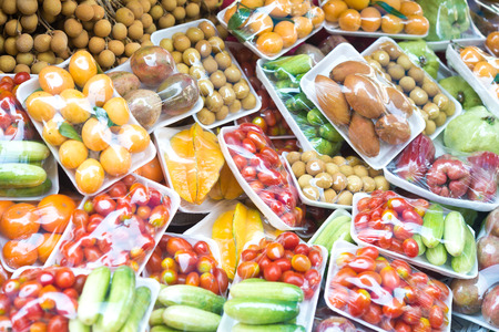 fruits and vegetables in packing