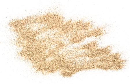 Pila de arena aislado en el fondo blanco Foto de archivo - 43525553