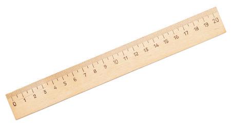 Regla de madera aisladas en blanco Foto de archivo - 45109889