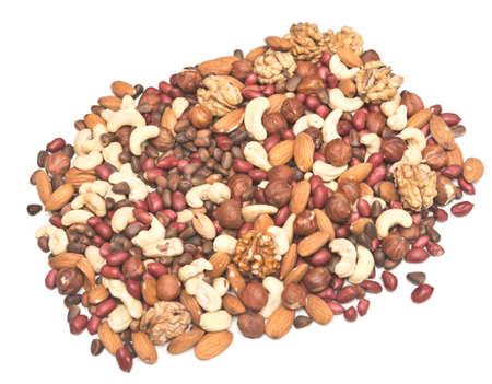 gemengde noten geïsoleerd op een witte achtergrond Stockfoto