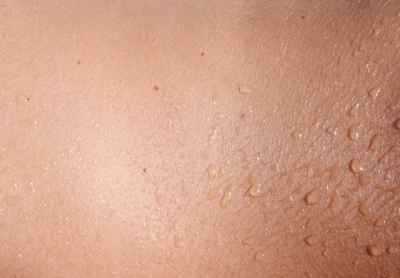 Wet human skin as background
