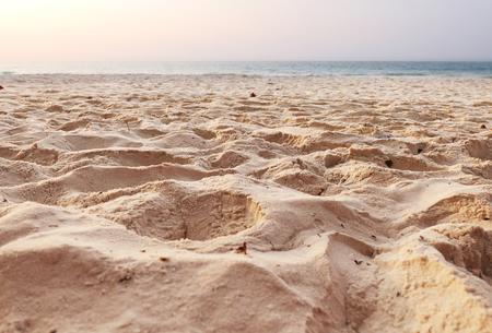 Beautiful sand beach Foto de archivo - 119762546