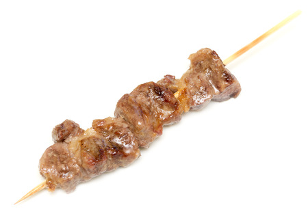 Pork kebab isolated on white background Foto de archivo - 119762557