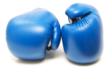 Boxing gloves isolated on white background Foto de archivo - 119762575