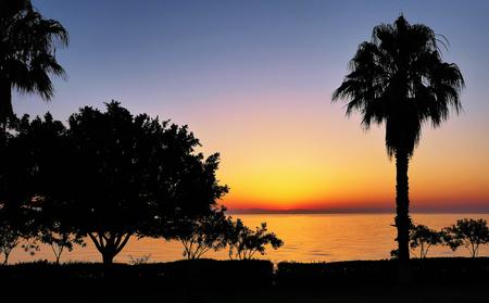Beautiful sunrise over sea, morning seascape