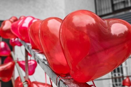 Globos del corazón Foto de archivo - 18105286