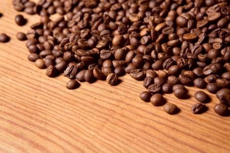 coffee table: Coffee bean on wooden background