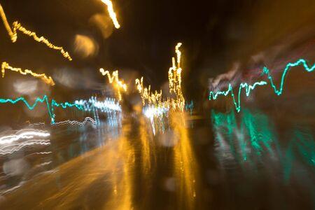 Abstract speed Light streaks Stock Photo