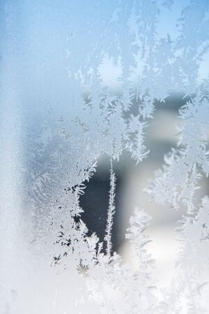 ice patterns on winter glass Stock Photo - 18842051