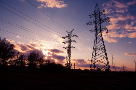 industrial landscape at sunset