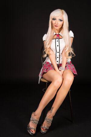 Barbie girl wearing school form photo