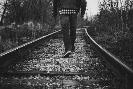 地平線への鉄道道
