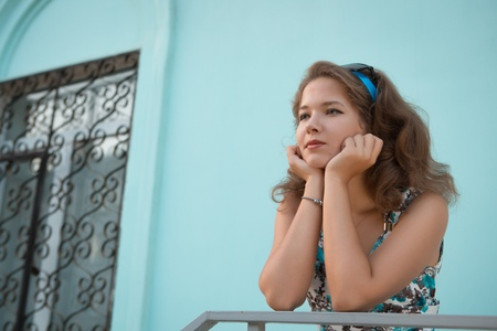 American redhead girl in suglasses. Photo in 60s style. Stock Photo - 21668727