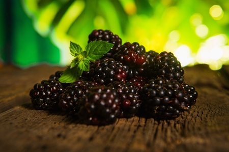 Sweet fresh  blackberry in the wood bawl Stock Photo - 21669155