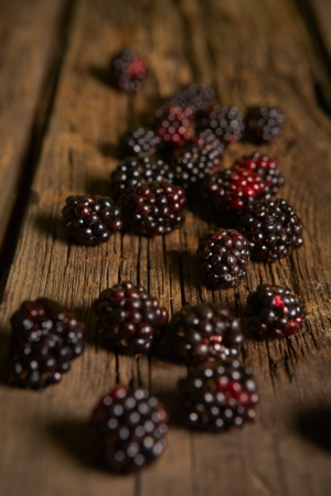 Sweet fresh  blackberry in the wood bawl Stock Photo - 21669162