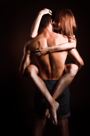 female sex: Passionate embraces men and women