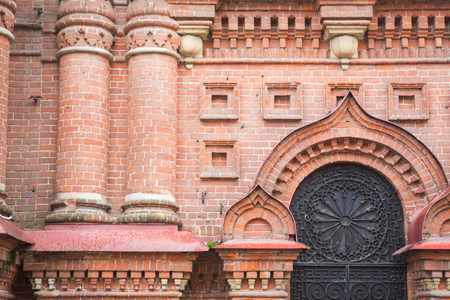 Detail of the facade Epiphany church  St. Petersburg, Russia