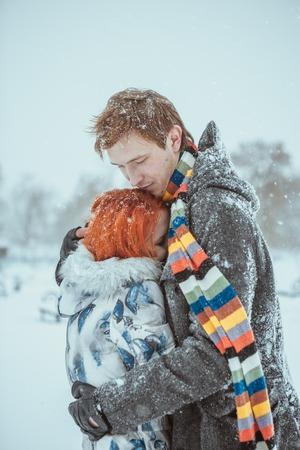 FOTO TË MUJIT JANAR 2015 - Faqe 2 25582044-gl-ckliche-junge-paar-in-winter-park