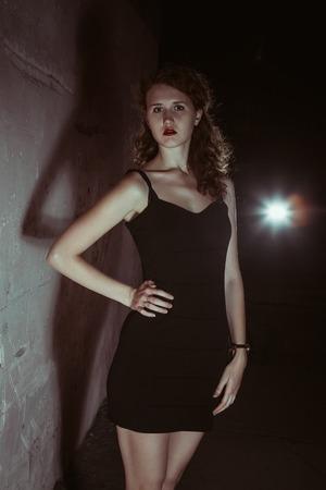film noir girl in the retro image photo