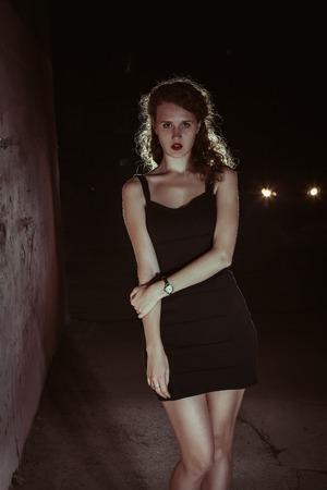 film noir: film noir girl in the retro image
