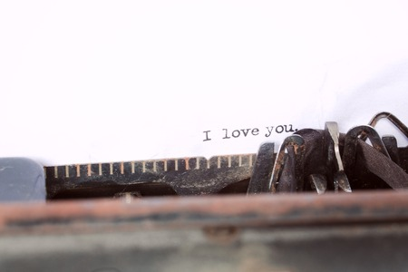 I love you message type on old typewriter photo