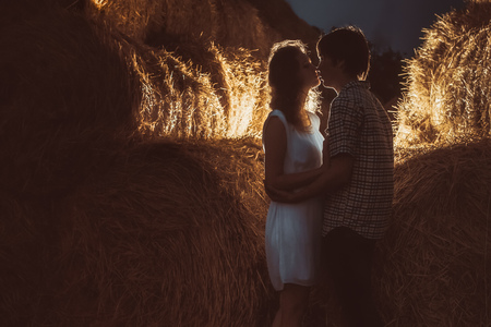 Young couple  kissing. photo