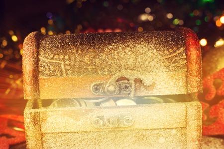 treasure chest: Magical treasure  chest Stock Photo
