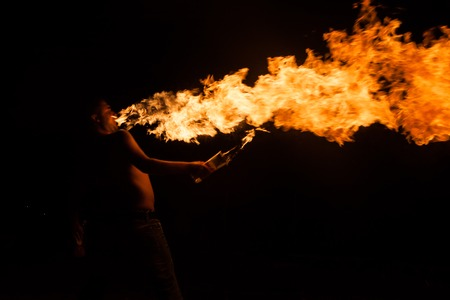 torches: Fire show with  torches