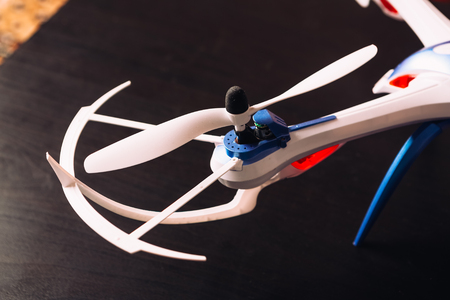 rotor: close-up of the rotor  unmanned aircraft propeller blade quadrocopter