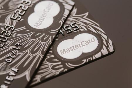 privilege: Samara, Russia-July 25.2016: MasterCard black Privilege credit card