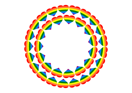 rainbow heart, lgbt community sign on light background Illustration