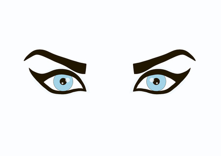 Beautiful girl eyes on a white background