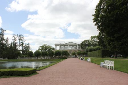 SAINT-PETERSBURG, RUSSIA - July 10, 2014: The Catherine Palace park Tsarskoye Selo