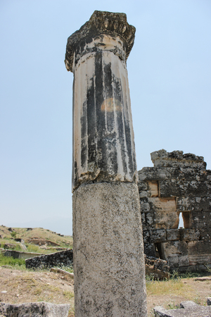 the ancient destroyed city of Hierapolis in Turkey Stock fotó