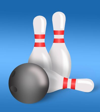 ardour: Illustration of bowling pins and ball from playing bowling