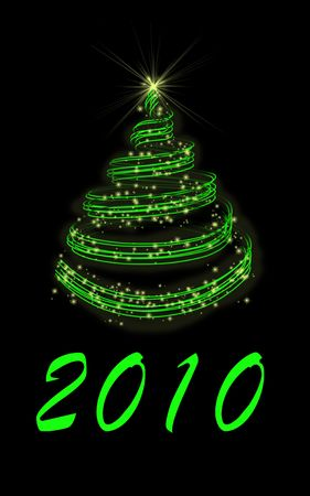 newyear: Abstract illustration of new-year fir-tree