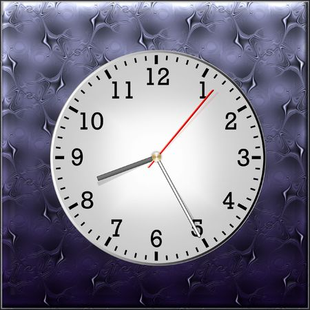 clockface: Illustration of pointer clock with round by a clock-face Stock Photo