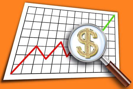 Illustration of the graph of increase Фото со стока