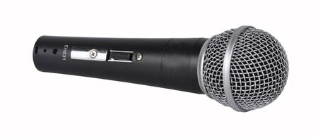 concerto: Picture of concerto microphone on a white background Stock Photo