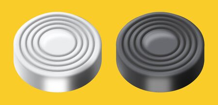 ardour: Illustration of two checkers of black and white color on a yellow background