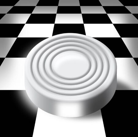 the prospect: Illustration of white sword on a chess-board in a prospect