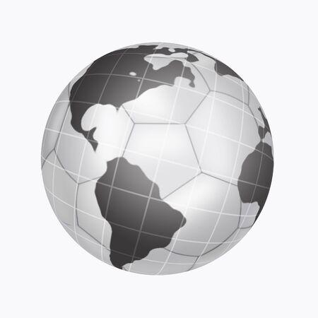 ardour: Illustration of soccer ball on background planets