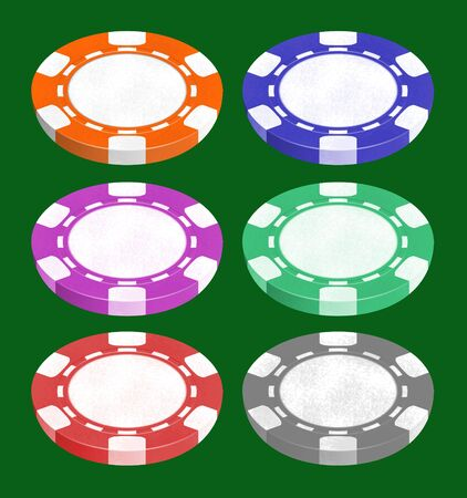 ardour: Illustration of chips for playing a poker and roulette