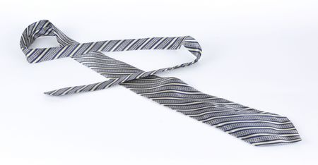 Picture of masculine tie on a white background