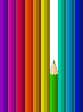 sharpen: Illustration of crayons going along images