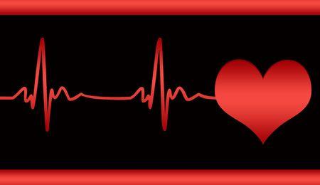 Illustration of cardiogram of fighting heart of man illustration
