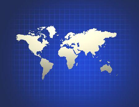 terrena: Illustrazione della superficie terrestre su uno sfondo astratto